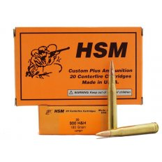 HSM .300 H&H Magnum 180 Gr. Hollow Point Boat Tail- Box of 20