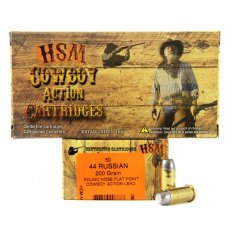 "HSM .44 Russian 200 Gr. Round Nose Flat Point ""Cowboy Action"" Lead- Box of 50"