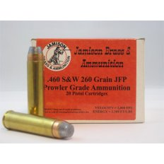 Jamison Prowler Grade .460 S&W 260 Gr. Jacketed Flat Point- Box of 20