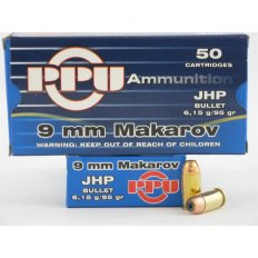 Prvi Partizan 9x18 Makarov 95 Gr. Jacketed Hollow Point- Box of 50