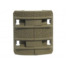 MagPul XTM Enhanced Modular Full Profile Picatinny Rail Cover Polymer- Package of 4- FDE