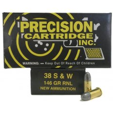 PCI .38 S&W 146 Gr. Round Nose Lead- Box of 50