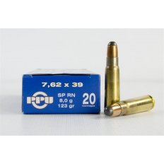 Prvi Partizan 7.62x39 123 Gr. Soft Point Round Nose- Box of 20