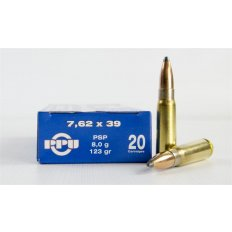 Prvi Partizan 7.62x39mm 123 Gr. Pointed Soft Point Boat Tail- Box of 20