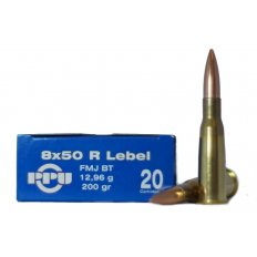 Prvi Partizan 8mm French Lebel (8x50mm Rimmed Lebel) 200 Gr. Full Metal Jacket Boat Tail- Box of 20