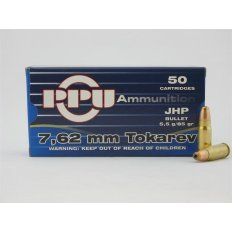 Prvi Partizan 7.62x25mm Tokarev 85 Gr. Jacketed Hollow Point- Box of 50