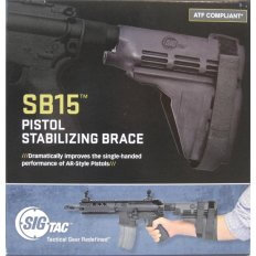 SIG SAUER SB15 Pistol Stabilizing Brace with Pistol Buffer Tube- Black