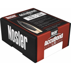 Nosler Bullets .30 Caliber (.308 Diameter) 190 Gr. AccuBond Long Range Bonded Spitzer Boat Tail- Box of 100