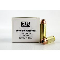 GLFA .500 S&W Magnum 350 Gr. Hornady XTP Hollow Point- Box of 20