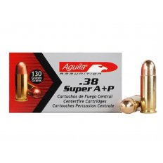 Aguila .38 Super + P 130 Gr. Full Metal Jacket- Box of 50