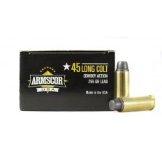 Armscor Cowboy Action .45 Long Colt 255 Gr. Lead Flat Nose- Box of 50