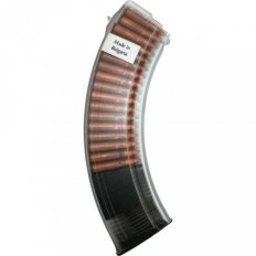 Bulgarian AK-47 7.62x39mm 40-Round Plastic Magazine- Clear Smoke