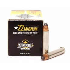Armscor .22 Magnum 40 Gr. Jacketed Hollow Point FAC22M-1N