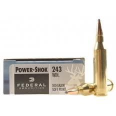 Federal Power-Shok .243 Winchester 100 Gr. Soft Point- Box of 20