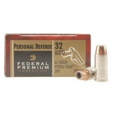 Federal Premium .32 Auto 65 Gr. Hydra-Shok JHP - Box of 20