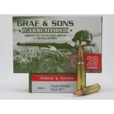 Graf & Sons Hornady 7.5x55mm Swiss 150 Gr. SST- Box of 20