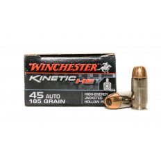 Winchester Kinetic HE .45 Auto 185 Gr. High-Energy Jacketed Hollow Point- Box of 20