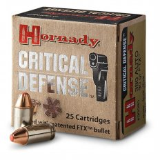 Hornady Critical Defense 9mm 115 Gr. FTX- Box of 25