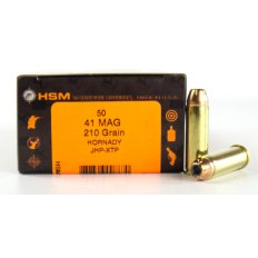 HSM .41 Magnum 210 Gr. Hornady XTP Jacketed Hollow Point- Box of 50