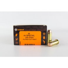 HSM .44 Special 240 Gr. Plated Flat Point- Box of 50