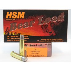 "HSM .460 S&W 325 Gr. Lead WFN Gas Check ""Bear load""- Box of 20"