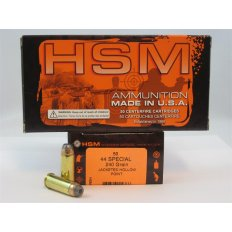 HSM .44 Special 240 Gr. Jacketed Hollow Point- Box of 50