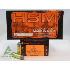 "HSM Factory Blemish .45 Long Colt 200 Gr. Round Nose Flat Point ""Cowboy Action"" Lead"