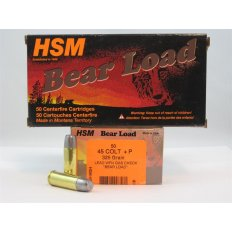 "HSM ""Bear Load"" .45 Long Colt +P 325 Gr. Lead WFN Gas Check - Box of 50"