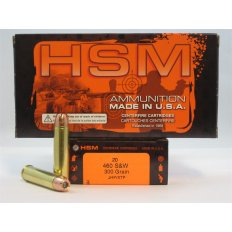 HSM .460 S&W 300 Gr. Hornady XTP Jacketed Hollow Point- Box of 20