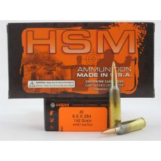 HSM 6.5x284 142 Gr. HPBT Match- Box of 20