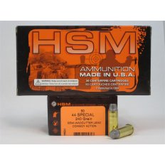 "HSM .44 Special 240 Gr. Semi-Wadcutter ""Cowboy Action Lead""- Box of 50"