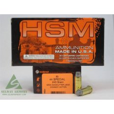 "HSM Factory Blemish .44 Special 240 Gr. Semi-Wadcutter ""Cowboy Action Lead"""