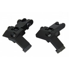 AR15 45 Degree Flip-Up Back-Up Iron Sight Set- Black- IS003
