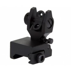 AR15 Same Plane Flip-Up Low Profile Rear Back-Up Iron Sight- Black- IS005