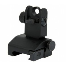 AR15 Same Plane Flip-Up Rear Back-Up Iron Sight- Black- IS007