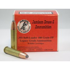 Jamison Legacy Grade .351 Winchester Self-Loading 180 Gr. Flat Point- Box of 20