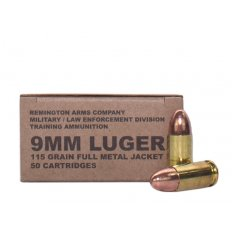 Remington Military/Law Enforcement Division 9mm Luger 115 Gr. Full Metal Jacket B9MM3