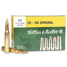 Sellier & Bellot .30-06 Springfield 180 Gr. Full Metal Jacket- Box of 20