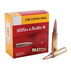 Sellier & Bellot .338 Lapua 250 Gr. BTHP- Box of 10