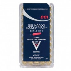 CCI Maxi-Mag .22 Winchester Magnum Rimfire (WMR) 30 Gr. TNT Hollow Point- 63