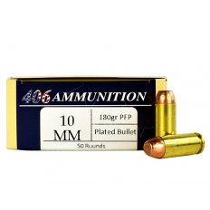 406Ammunition 10mm Auto 180 Gr. Plated Flat Point 10MM-180-PFP-50
