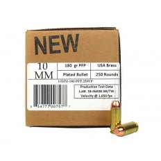 406Ammunition 10mm Auto 180 Gr. Plated Flat Point 10MM180250