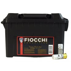 """Fiocchi Low Recoil 12 Gauge 2-3/4"""" 00 Buckshot 9 Nickel Plated Pellets- Box of 80 (8 Boxes of 10) 12FLE00B"""