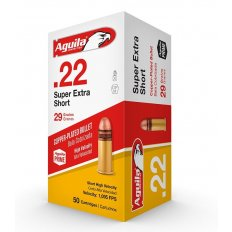 Aguila Super Extra High Velocity .22 Short 29 Gr. Plated Lead Round Nose- 1B222110