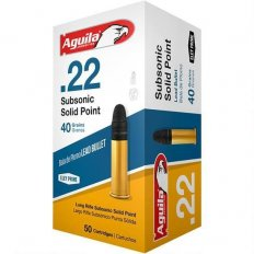 Aguila Subsonic .22 Long Rifle 40 Gr. Subsonic Lead Solid Point- 1B222269