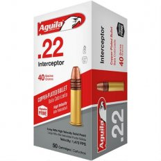 Aguila Interceptor .22 Long Rifle 40 Gr. PRN Lead- 1B222320