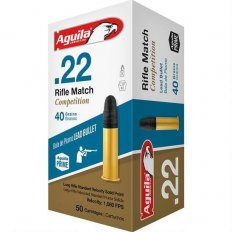 Aguila Match Rifle .22 Long Rifle 40 Gr. Lead Round Nose- 1B222518-50