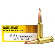 Black Hills Gold 6.5 Creedmoor 147 Gr. Hornady ELD-M- Box of 20 1C6.5CREEDMOORBHGN2