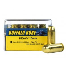 Buffalo Bore 10mm Auto 200 Gr. Full Metal Jacket Flat Nose- Box of 20 21A/20