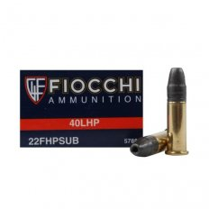Fiocchi Shooting Dynamics .22 Long Rifle 40 Gr. Subsonic Hollow Point- 22FHPSUB-50